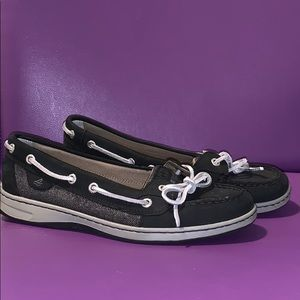 Sperry black and silver shoes